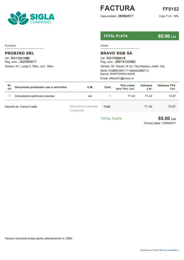 factura online smart bill